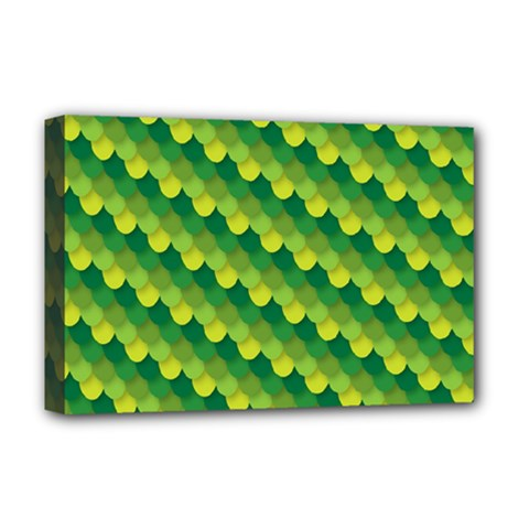 Dragon Scale Scales Pattern Deluxe Canvas 18  X 12