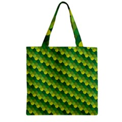 Dragon Scale Scales Pattern Zipper Grocery Tote Bag