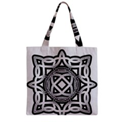 Celtic Draw Drawing Hand Draw Zipper Grocery Tote Bag by Nexatart