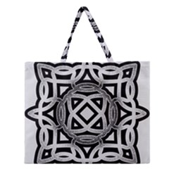 Celtic Draw Drawing Hand Draw Zipper Large Tote Bag by Nexatart