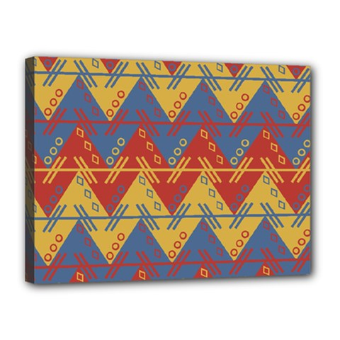 Aztec Traditional Ethnic Pattern Canvas 16  X 12