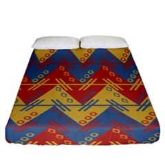 Aztec Traditional Ethnic Pattern Fitted Sheet (california King Size)
