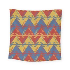 Aztec Traditional Ethnic Pattern Square Tapestry (small) by Nexatart