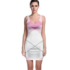 Tablecloth Stripes Diamonds Pink Sleeveless Bodycon Dress by Nexatart
