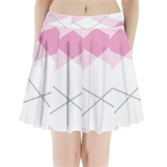 Tablecloth Stripes Diamonds Pink Pleated Mini Skirt by Nexatart