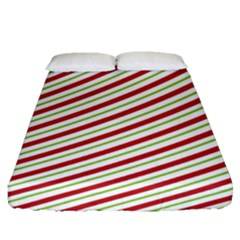 Stripes Striped Design Pattern Fitted Sheet (queen Size) by Nexatart