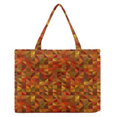 Gold Mosaic Background Pattern Medium Zipper Tote Bag
