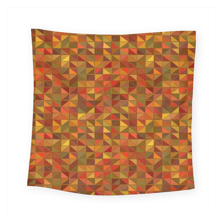 Gold Mosaic Background Pattern Square Tapestry (Small)