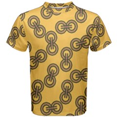 Abstract Shapes Links Design Men s Cotton Tee by Nexatart
