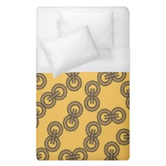 Abstract Shapes Links Design Duvet Cover (single Size) by Nexatart