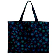 Background Abstract Textile Design Zipper Mini Tote Bag by Nexatart