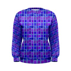 Background Mosaic Purple Blue Women s Sweatshirt by Nexatart