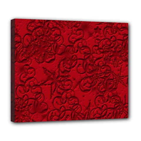 Christmas Background Red Star Deluxe Canvas 24  X 20   by Nexatart
