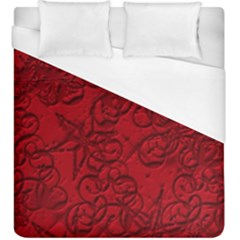 Christmas Background Red Star Duvet Cover (king Size) by Nexatart