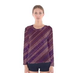 Stripes Course Texture Background Women s Long Sleeve Tee