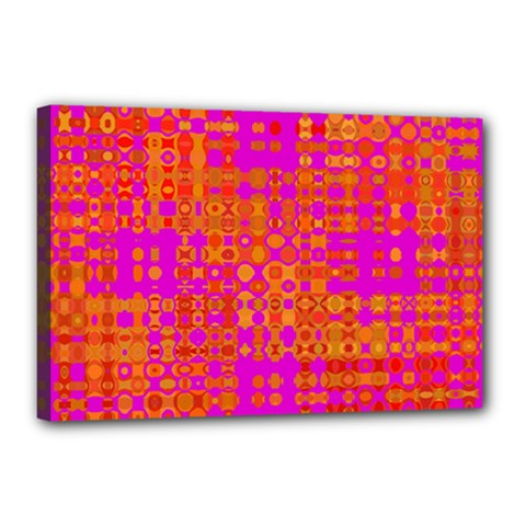 Pink Orange Bright Abstract Canvas 18  X 12  by Nexatart
