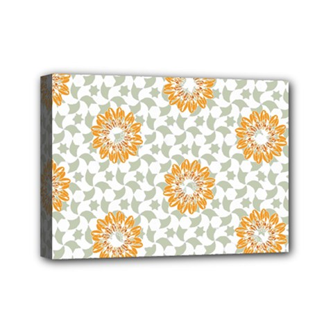 Stamping Pattern Fashion Background Mini Canvas 7  X 5  by Nexatart