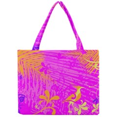 Spring Tropical Floral Palm Bird Mini Tote Bag by Nexatart