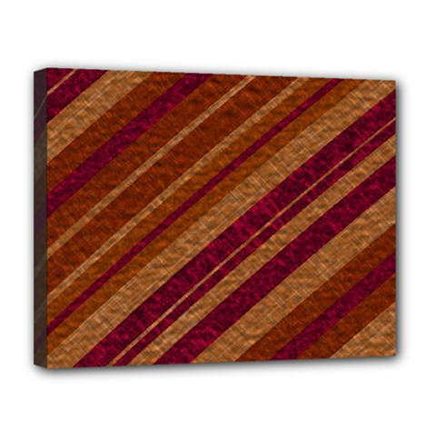 Stripes Course Texture Background Canvas 14  X 11  by Nexatart