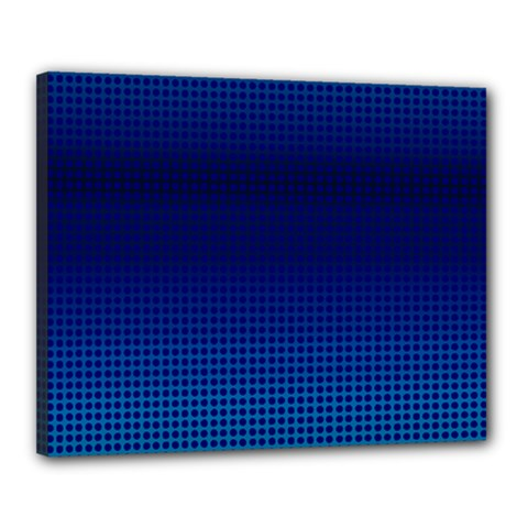 Blue Dot Canvas 20  X 16  by PhotoNOLA