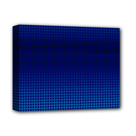 Blue Dot Deluxe Canvas 14  X 11  by PhotoNOLA