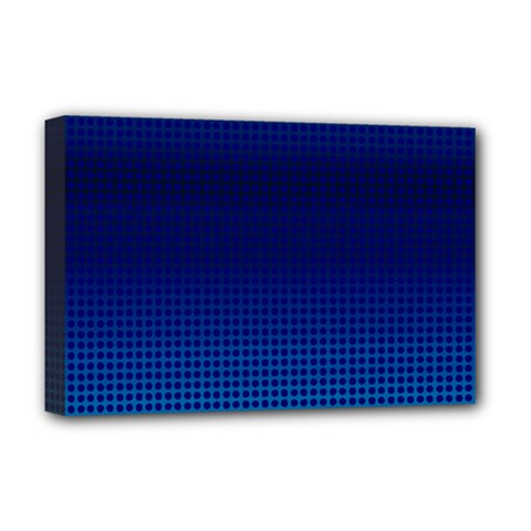 Blue Dot Deluxe Canvas 18  X 12   by PhotoNOLA