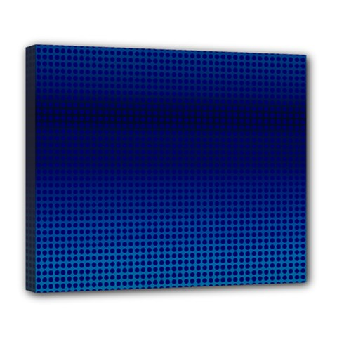 Blue Dot Deluxe Canvas 24  X 20   by PhotoNOLA