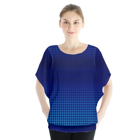 Blue Dot Blouse by PhotoNOLA