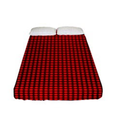 Redc Fitted Sheet (full/ Double Size) by PhotoNOLA