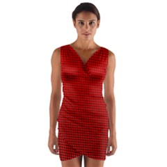 Redc Wrap Front Bodycon Dress by PhotoNOLA