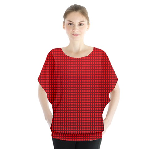 Redc Blouse by PhotoNOLA