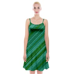 Stripes Course Texture Background Spaghetti Strap Velvet Dress