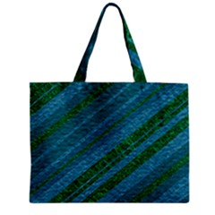 Stripes Course Texture Background Zipper Mini Tote Bag by Nexatart