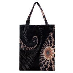 Fractal Black Pearl Abstract Art Classic Tote Bag by Nexatart