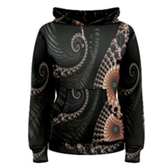 Fractal Black Pearl Abstract Art Women s Pullover Hoodie