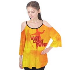 West Coast Swing Flutter Sleeve Tee  by cglightNingART