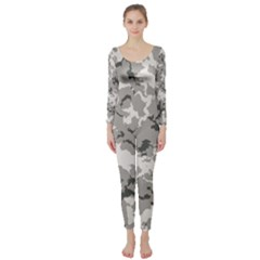 Winter Camouflage Long Sleeve Catsuit