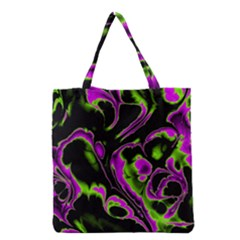 Glowing Fractal B Grocery Tote Bag by Fractalworld