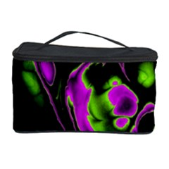 Glowing Fractal B Cosmetic Storage Case by Fractalworld