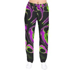 Glowing Fractal B Drawstring Pants by Fractalworld