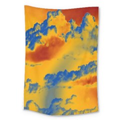 Sky Pattern Large Tapestry by Valentinaart