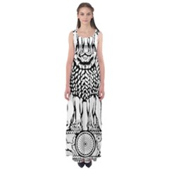 National Emblem Of India  Empire Waist Maxi Dress by abbeyz71