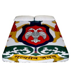 State Seal Of Karnataka Fitted Sheet (queen Size) by abbeyz71