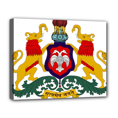 State Seal Of Karnataka Deluxe Canvas 20  X 16   by abbeyz71