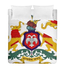 State Seal Of Karnataka Duvet Cover Double Side (full/ Double Size) by abbeyz71