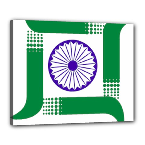 Seal Of Indian State Of Jharkhand Canvas 20  X 16  by abbeyz71