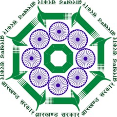 Seal Of Indian State Of Jharkhand Straight Umbrellas by abbeyz71