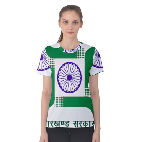 Seal Of Indian State Of Jharkhand Women s Cotton Tee by abbeyz71