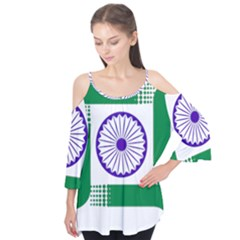 Seal Of Indian State Of Jharkhand Flutter Tees by abbeyz71