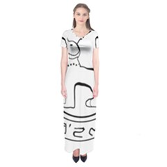 Seal Of Indian State Of Manipur Short Sleeve Maxi Dress by abbeyz71